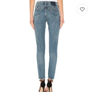 """NWT Levi's 501 """"Altered""""  High Rise Skinny Btn Fly"""